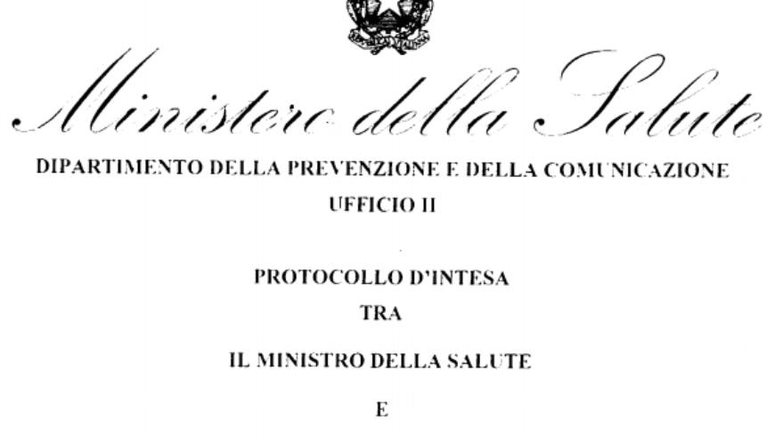 Protocollo d'Intesa  Ministero/SIP/SIPPS